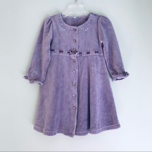 Le Top Violet Button Down Victorian Dress